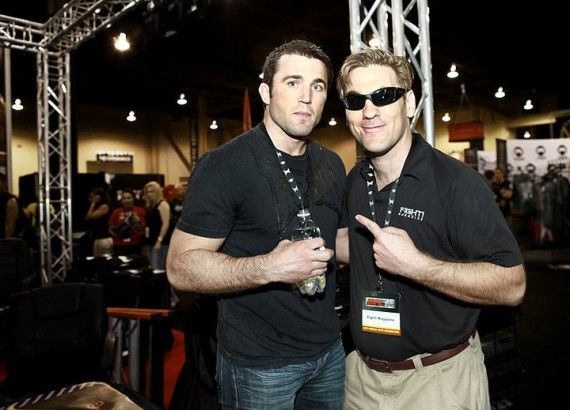 Chael Sonnen and Donovan Craig of Fight! Magazine, Photo: Isaac Hinds / Lift Studios