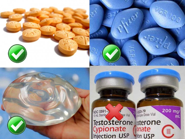 Anabolic steroids demonized while Viagra, Adderall and breast implants gain societal acceptance.
