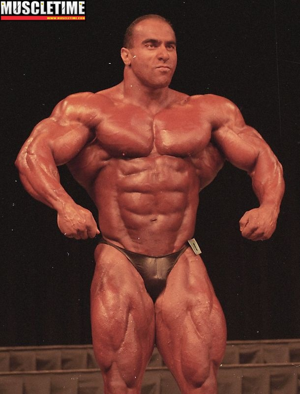 Nasser el Sonbaty at the 1997 Mr. Olympia. Nasser was always open and honest about anabolic steroids to anyone who asked.
